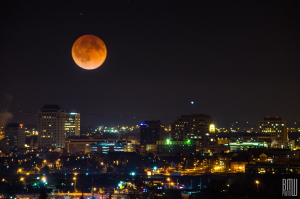 Blood Moon Over Downtown